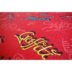 Wykładzina dywanowa GRAFFITI czerwień
