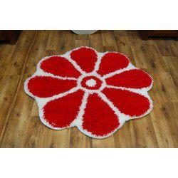 Dywan SHAGGY GUSTO Kwiatek C300 czerwony