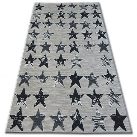 Dywan LISBOA 27219/956 Gwiazdy Gwiazdki Czarny