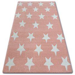 Dywan SKETCH - FA68 różowo/kremowy - Gwiazdki Gwiazdy