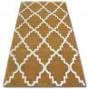Dywan SKETCH - F343 złoto/kremowa koniczyna marokańska trellis