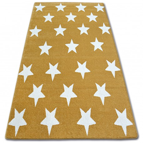Dywan SKETCH - FA68 złoto/kremowy - Gwiazdki Gwiazdy