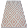 Dywan SKETCH - F998 różowo/kremowy - Kwadraty