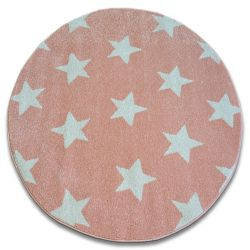 Dywan SKETCH koło - FA68 różowo/kremowy - Gwiazdki Gwiazdy