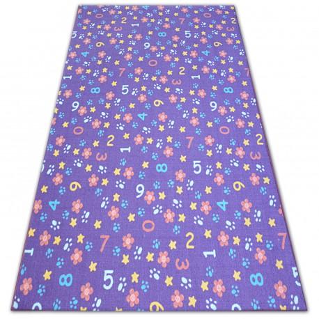 Dywan dla dzieci NUMBERS fiolet liczby, alfabet, cyferki