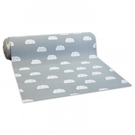 Antypoślizgowa wykładzina dywanowa dla dzieci CLOUDS szary