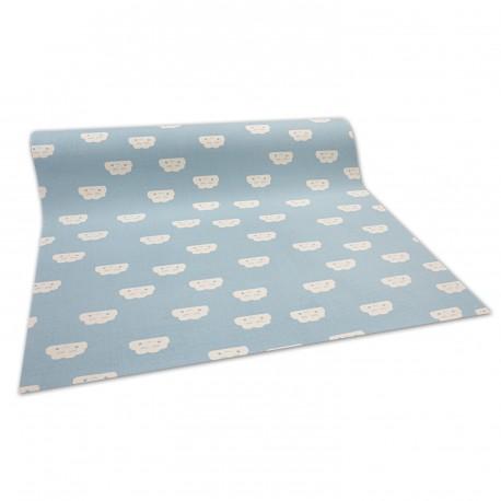 Antypoślizgowa wykładzina dywanowa dla dzieci CLOUDS niebieski