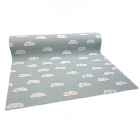 Antypoślizgowa wykładzina dywanowa dla dzieci CLOUDS zielony