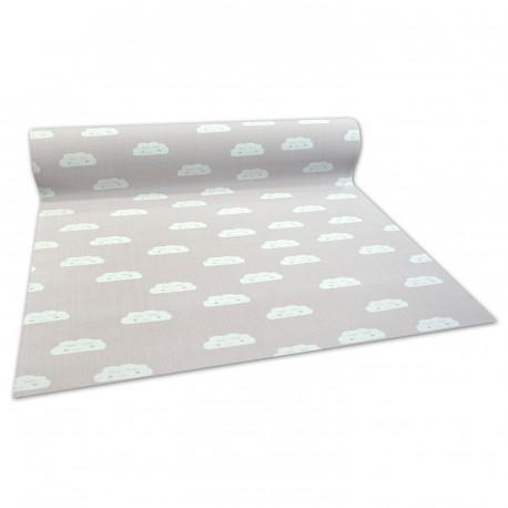 Antypoślizgowa wykładzina dywanowa dla dzieci CLOUDS różowy
