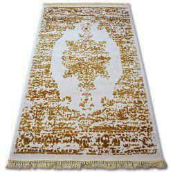 Dywan AKRYL MANYAS 192AA Kość słoniowa/Złoty frędzle