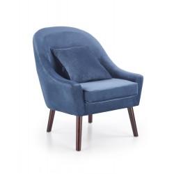 Fotel OPALE ciemno-niebieski
