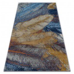 Dywan SOFT 6316 PIÓRKA żółty / niebieski / musztarda