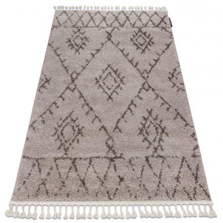 Dywan BERBER FEZ G0535 beż / brąz Frędzle berberyjski marokański shaggy