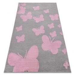 Dywan BCF ANNA Butterfly 2650 Motyle szary / róż