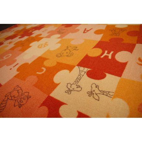 Wykładzina dywanowa PUZZLE oranż
