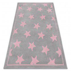 Dywan BCF ANNA Stars 3105 Gwiazdki szary / różowy