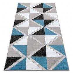 Dywan BCF ANNA Trigonal 2964 Trójkąty niebieski