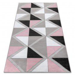 Dywan BCF ANNA Trigonal 2964 Trójkąty różowy
