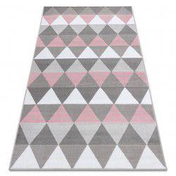 Dywan BCF ANNA Triangles 2965 Trójkąty różowy