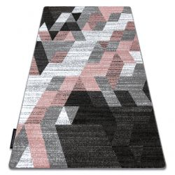 Dywan INTERO TECHNIC 3D Romby Trójkąty różowy