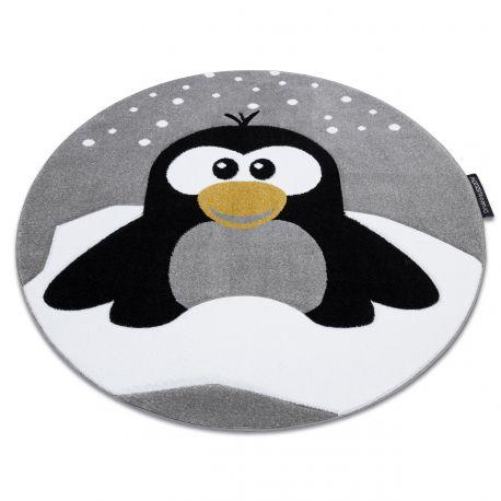 Dywan PETIT PENGUIN PINGWIN ŚNIEG koło szary