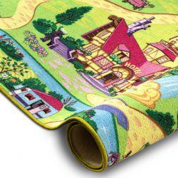 Wykładzina dywanowa CANDY TOWN dziecięca, dla dzieci, uliczki, miasteczko