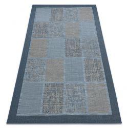 Dywan SZNURKOWY SIZAL FORT 36214035 niebieski kwadraty