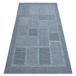 Dywan SZNURKOWY SIZAL FORT 36209535 niebieski kwadraty ramka
