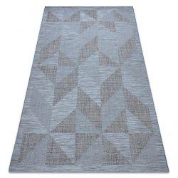 Dywan SZNURKOWY SIZAL FORT 36216535 niebieski trójkąty