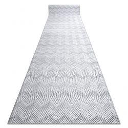 Chodnik Strukturalny SIERRA G5010 Płasko tkany, dwa poziomy runa szary - geometryczny, zygzak