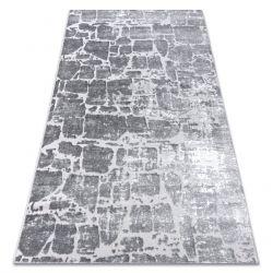 Dywan nowoczesny MEFE 6184 Kostka brukowa cegła - Strukturalny, dwa poziomy runa ciemnoszary