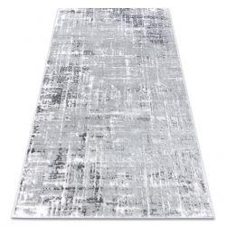 Dywan nowoczesny MEFE 8722 Linie vintage przecierany - Strukturalny, dwa poziomy runa szary / biały