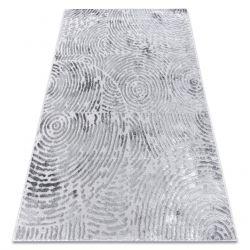 Dywan nowoczesny MEFE 8725 Koła odcisk palca - Strukturalny, dwa poziomy runa szary