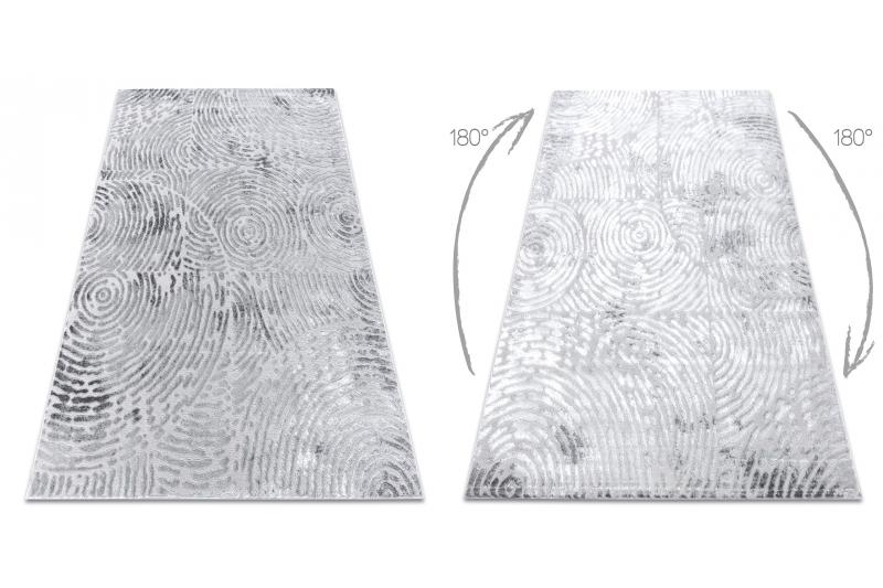 Dywan nowoczesny MEFE 8725 Koła odcisk palca Strukturalny