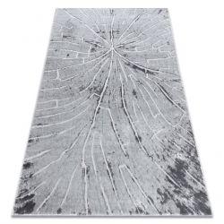 Dywan nowoczesny MEFE 2784 Pień drzewo drewno - Strukturalny, dwa poziomy runa szary