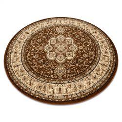 Dywan ROYAL ADR koło wzór 521 brązowy