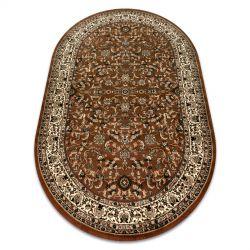 Dywan ROYAL ADR owal wzór 1745 brązowy