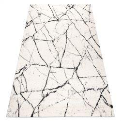 Dywan GNAB 60639563 Marmur nowoczesny biały / czarny