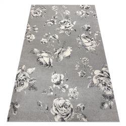 Dywan GNAB 60642653 Kwiaty róże szary / biały
