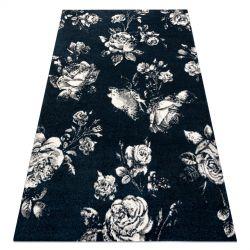 Dywan GNAB 60642734 Kwiaty róże granat / biały