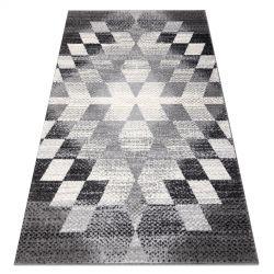 Dywan KAKE 25812677 Geometryczny - Romby, Trójkąty 3D szary / czarny