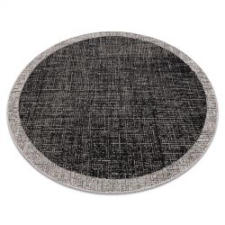 DYWAN SZNURKOWY SIZAL FLOORLUX KOŁO 20401 Ramka czarny / srebrny