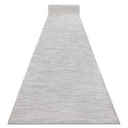 Sznurkowy, płaskotkany Chodnik PATIO Sizal jednolity, wzór 2778 szary