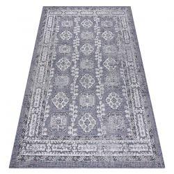 Dywan SZNURKOWY SIZAL SION Ramka, ornament, przecierany 2832 płaskie tkanie niebieski / róż / ecru