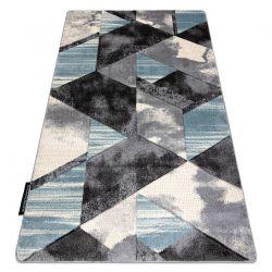 Dywan ALTER Wet Geometryczny, trójkąty, trapez niebieski