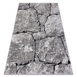 Dywan nowoczesny COZY 8985 Brick Kostka brukowa, kamień - Strukturalny, dwa poziomy runa szary