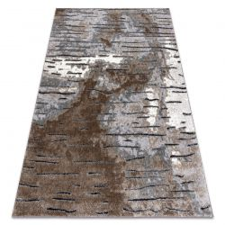 Dywan nowoczesny COZY 8876 Rio - Strukturalny, dwa poziomy runa brązowy