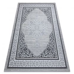 Dywan GLOSS nowoczesny 8490 52 Ornament, stylowy, ramka kość słoniowa / szary