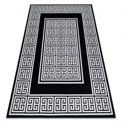 Dywan GLOSS nowoczesny 6776 85 stylowy, ramka, grecki klucz czarny / kość słoniowa