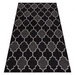 DYWAN SZNURKOWY SIZAL FLOORLUX 20607 , koniczyna marokańska, trellis czarny / srebrny